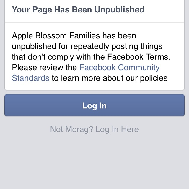 Facebook Unpublished Apple Blossom Families