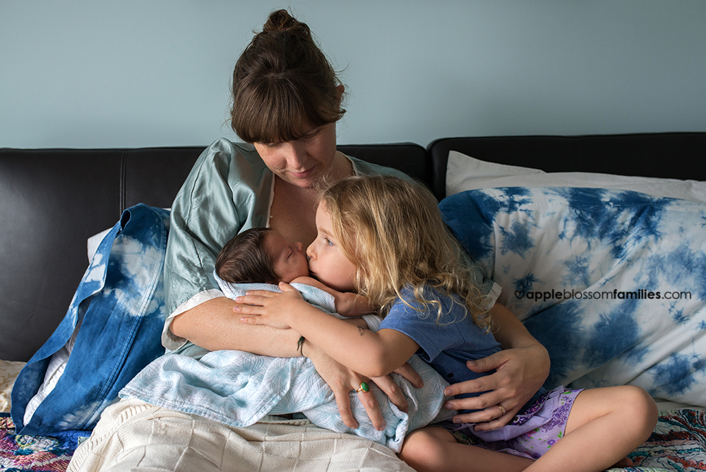 Vancouver Birth Photographer Apple Blossom Families